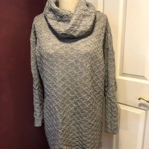 H&M Sweaters - Cowl neck Gray cable knit sweater dress